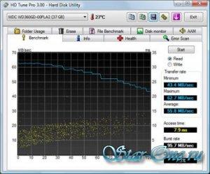 HD Tune Pro 3.10 (тест карт памяти, flash-дисков, HDD )