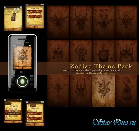Zodiac Theme Pack for Sony Ericsson